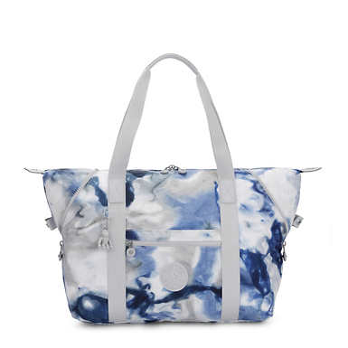 Art Medium Printed Tote Bag - Tie Dye Blue