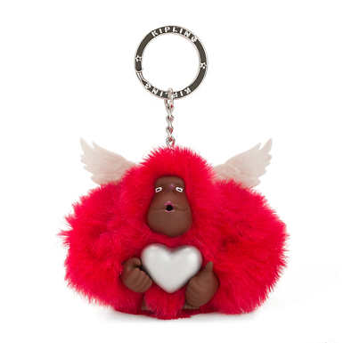Cupid Monkey Keychain - Rapid Red