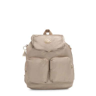 Elijah Medium Metallic Backpack - Fungi Star