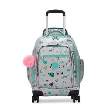 "Zea Metallic 15"" Laptop Rolling Backpack - Metallic Doodle"