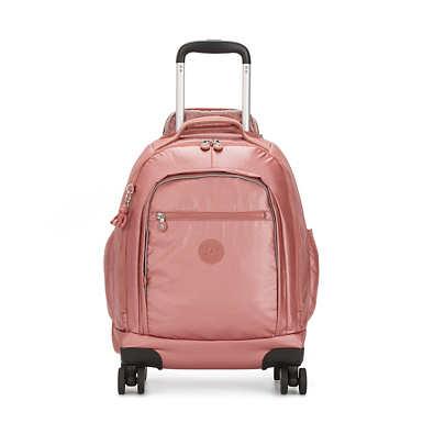 "Zea Metallic 15"" Laptop Rolling Backpack - Metallic Rust"
