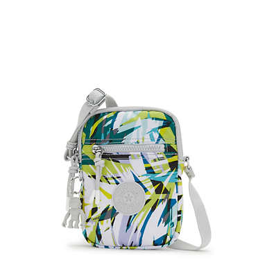 키플링 데비 폰백 Kipling Debby Printed Crossbody Phone Bag,Bright Palm