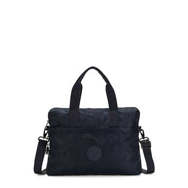 Elsil Crossbody Laptop Bag - Satin Camo Blue