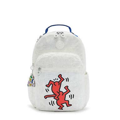 키플링 X 키스 해링 콜라보 서울 랩탑 백팩 라지 15인치 Kipling Keith Haring Seoul Large 15 Laptop Backpack,Public Art