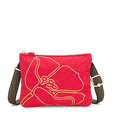 Mai Pouch Convertible Bag - Red Gold Flower