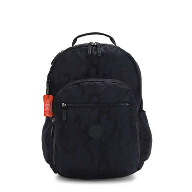 Seoul Extra large Laptop Backpack - Blue Camo