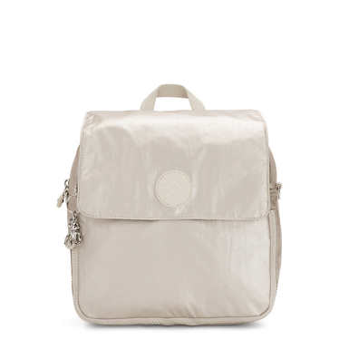 Annic Small Convertible Metallic Backpack