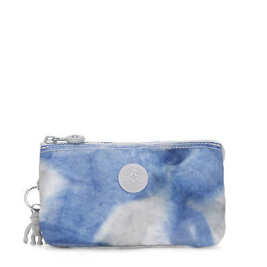 Creativity Large Printed Pouch - Tie Dye Blue
