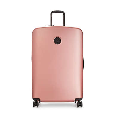 Curiosity Large Metallic 4 Wheeled Rolling Luggage