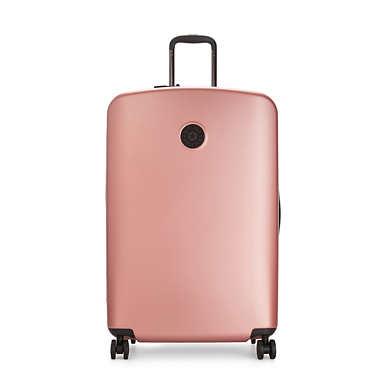 Curiosity Large Metallic 4 Wheeled Rolling Luggage - Metallic Rust