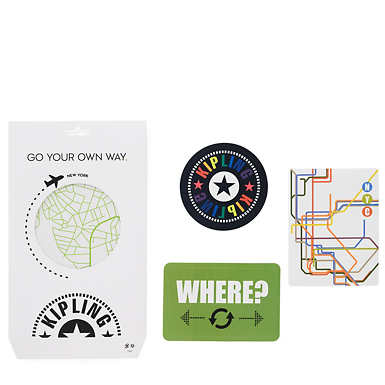 New York Luggage Sticker Set - Multi