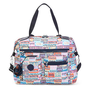 Carton Printed Travel Tote - Hello Weekend