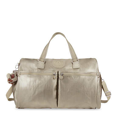 Itska Metallic Duffel Bag - Metallic Pewter