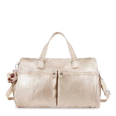 Itska Metallic Duffel Bag - Sparkly Gold