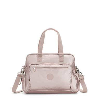 Alanna Metallic Diaper Bag - Metallic Rose