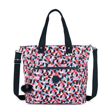 "Lizzie Printed 15"" Laptop Tote Bag - Forever Tiles"