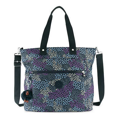 "Lizzie Printed 15"" Laptop Tote Bag - Dotted Bouquet"