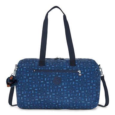 Zaliki Printed Duffle Bag - Monkey Mania Blue