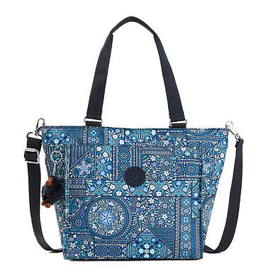 New Shopper Small Printed Tote Bag - Dizzy Darling Blue