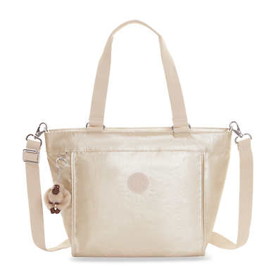 New Shopper Small Metallic Tote Bag - undefined