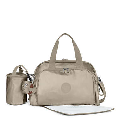 Camama Metallic Diaper Bag - Metallic Pewter