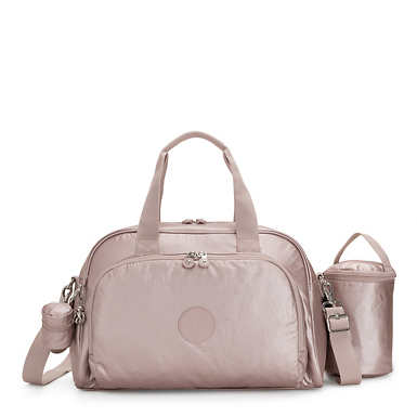 Camama Metallic Diaper Bag - Metallic Rose