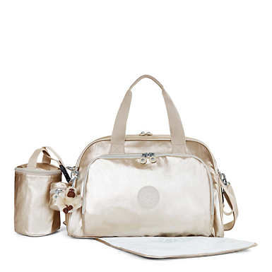 Camama Metallic Diaper Bag - Sparkly Gold
