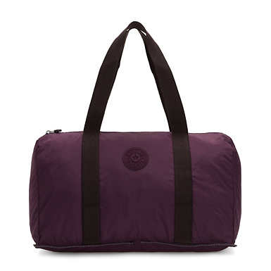 Honest Foldable Duffel Bag - Dark Plum