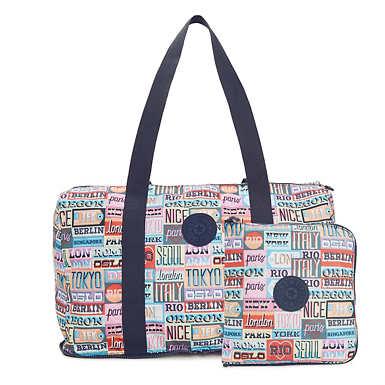 Honest Printed Foldable Duffel Bag - Hello Weekend