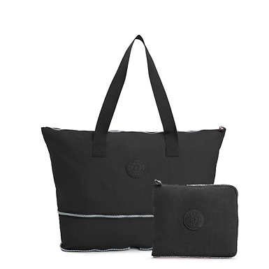 Imagine Foldable Tote Bag - Black