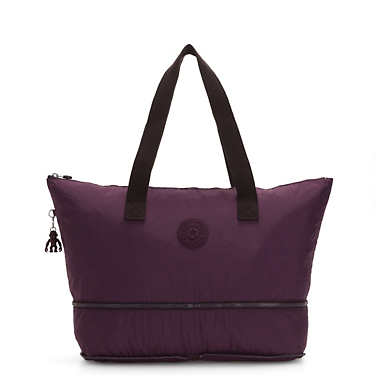 Imagine Foldable Tote Bag - Dark Plum