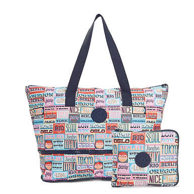 Imagine Printed Foldable Tote Bag - Hello Weekend
