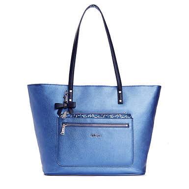 Haden Metallic Tote Bag - Metallic Scuba Diver Blue