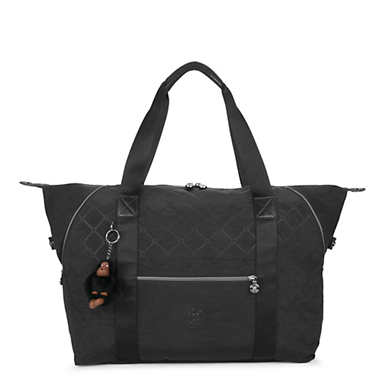 Art Medium Quilted Tote Bag - Black