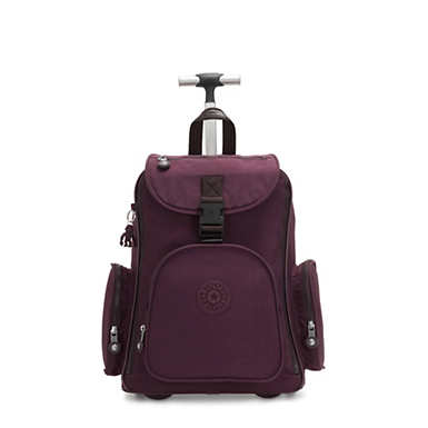 키플링 Kipling Alcatraz IILarge Rolling Laptop Backpack,Dark Plum