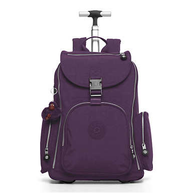Alcatraz II Large Rolling Laptop Backpack - Deep Purple