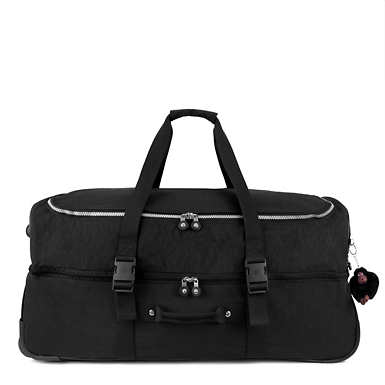 Teagan Large Wheeled Duffel - Black