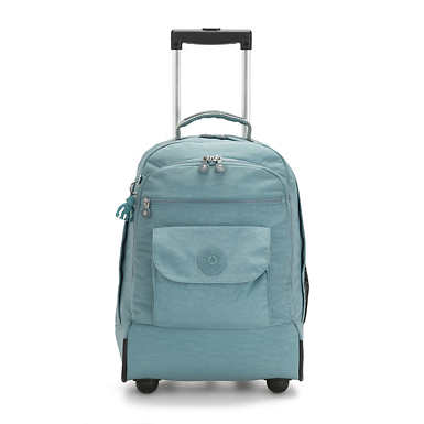 Sanaa Large Rolling Backpack - Aqua Frost