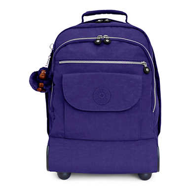 Sanaa Large Rolling Backpack - Berry Blue