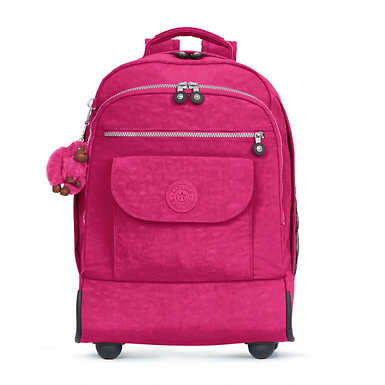 Sanaa Large Rolling Backpack - Very Berry