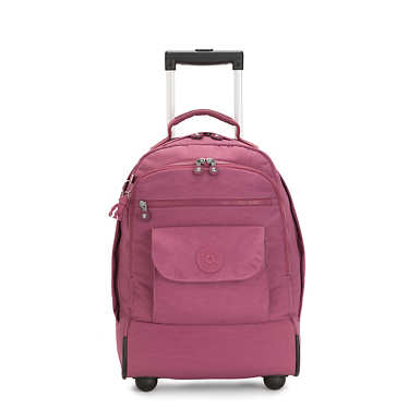 Sanaa Large Rolling Backpack - Fig Purple