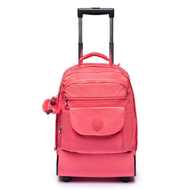 Sanaa Large Rolling Backpack - Grapefruit Tonal Zipper