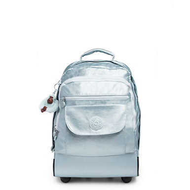 Sanaa Large Metallic Rolling Backpack - Arctic Metallic