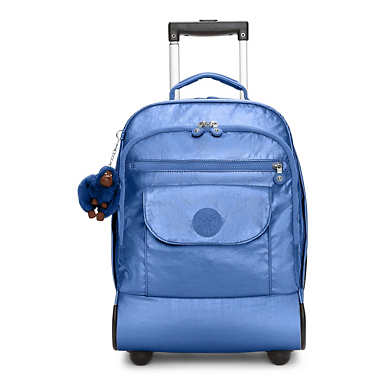 Sanaa Metallic Rolling Backpack - Scuba Diver Blue Metallic
