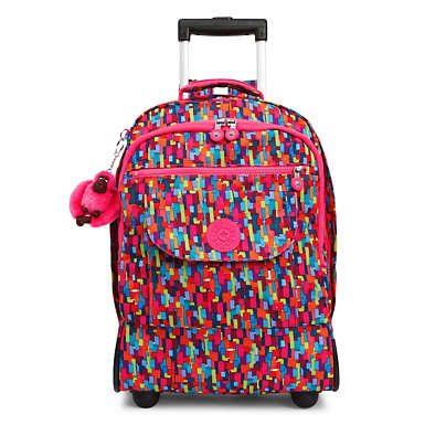 Sanaa Large Printed Rolling Backpack - Blooming Geo