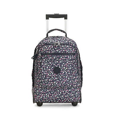 Sanaa Large Printed Rolling Backpack - Floral Rush