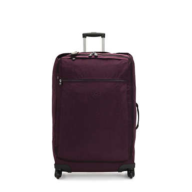 Darcey Large Rolling Luggage - Dark Plum