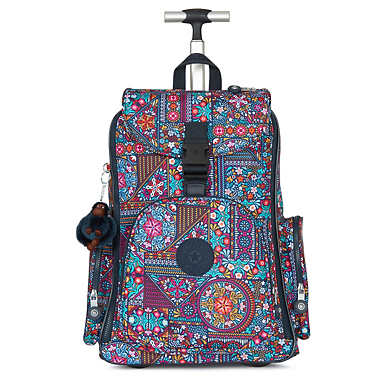 Alcatraz II Printed Rolling Laptop Backpack - Dizzy Darling Multi