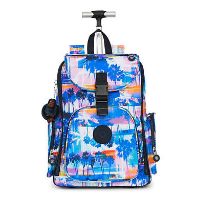 Alcatraz II Printed Rolling Laptop Backpack - Printed Prism