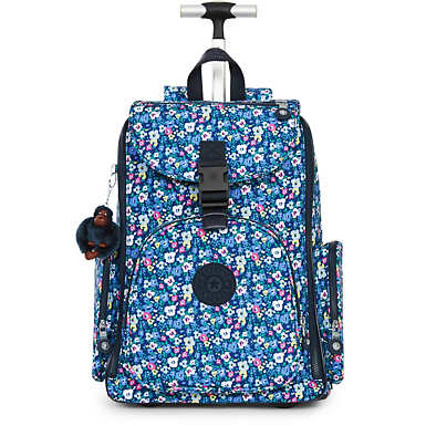 Alcatraz II Printed Rolling Laptop Backpack - Bustling Petals